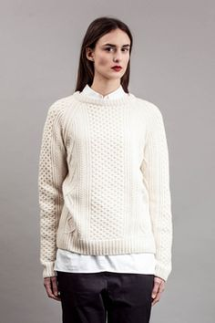 MALIN - HEAVY CABLE FISHERMAN SWEATER