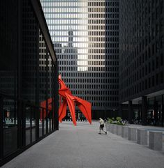https://flic.kr/p/pWpD2V   federal center   Federal Center, 1959-1973 Chicago, Illinois Mies van der Rohe, arch. 'Flamingo', 1973/74 Alexander Calder, artist  been a while since mies has made an appearance on my stream (as well as any color for that matter).