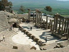 ''Dougga'' is an ancient city in nothern Tunisia. It is the best preserve Roman small town in north Africa.