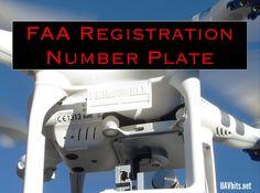 NEW from uavbits.net #FAA registration plate for your #DJI #P3 #phantom3 #UAV #dronegear #dronesforgood