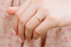 little thick hammered stackable ring,R190N
