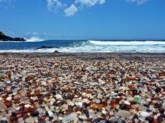 ~ Kauai's Glass Sand Beach....Loved exploring this beautiful beach.