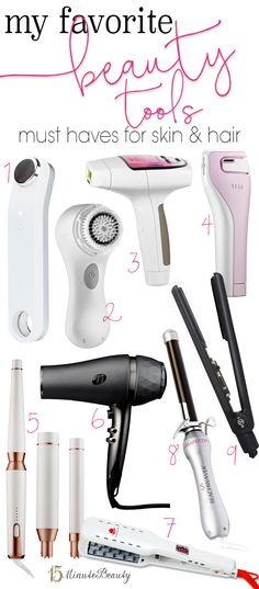 My Favorite Beauty Tools: Great Tools for Hair and Skin via @15 Minute Beauty