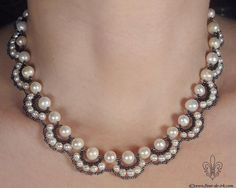 Schema - RAW based pearl neckace.  #Seed #Bead #Tutorials