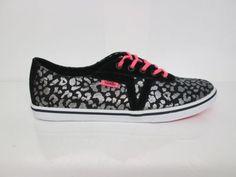 Vans Dixie Women's Shoes Black Pink Silver