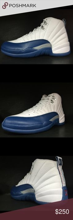 """Air Jordan 12 """"French Blue"""" All items we sell are 100% Authentic Guaranteed. We DO NOT deal with fakes or B-Grades.  Items will ship via USPS Priority with Tracking and Signature Confirmation.  All items will be shipped double boxed. Contact me @(336) 330-1236 for more details  100% AUTHENTIC FRESH FROM STORE  DOUBLE BOXED SHIPPED  SHIPPING TAKES 3-6 DAYS  ALL SHOES SHIPPED WITH RECEIPTS  NO FAKES WILL BE SOLD !!!! Air Jordan Shoes Sneakers"""