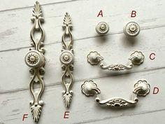 "3"" 3.75"" 5"" 6.3"" Dresser Knob Pull Drawer Knobs Pulls Handles Creamy White Gold Back Plate Cabinet Handles Knob Door Handle 76 96 128 160 mm"