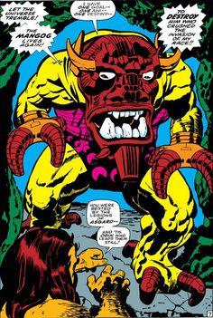 Jack Kirby The mighty Mangog and Ulik the Troll.