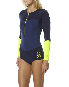 ROXY XY COLLECTION 1MM BIKINI SPRING SUIT WETSUIT - NAVY HEATHER LEMON
