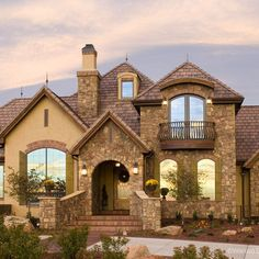 Rock And Stucco Exteriors Design Ideas, Pictures, Remodel, and Decor