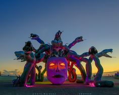 https://flic.kr/p/xTUCFL | Medusa Madness! | Burning Man 2015 - More photos from Burning Man 2015 here: www.flickr.com/photos/michaelholden/albums/72157655827300913  Please contact michael@michaelholden.com prior to editorial use.