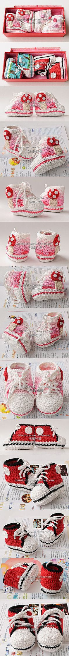 "cute booties inspiration and similar PDF crochet pattern ""free!"""