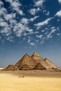 Ah, the pyramids at Giza. I feel as if I lived here once. Before there were camels.