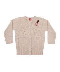 Sand Leaf Lambswool Cardigan - Girls by Dundelina on #zulilyUK today!
