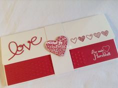Geschenkverpackung für Konzertkarten rot weiß von INEZZA  -  Geschenkestübchen auf DaWanda.com