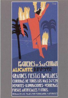Cartel de Hogueras del año 1932.