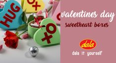 Create these fun goodie boxes styled after everyones favourite Valentine's day candy - Sweethearts!