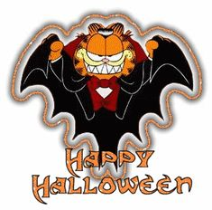 Happy Halloween To Me ~ free HTML Codes to use on MySpace & other sites… - Halloween Fondos Garfield Halloween, Feliz Halloween, Adornos Halloween, Halloween Gif, Halloween Greetings, Halloween Images, Holidays Halloween, Vintage Halloween, Happy Halloween