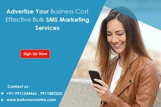 Generate leads faster and more cost efficiently with SMS marketing for all type business. New Customer Line (Buyer & Seller) Introduce New Packages/ Offers New Properties Offering To Mobile Users Request for Properties on Sale at Specific Location Marketing Campaign. #  +91-9911344466 , 9911882220 # http://www.bulksmsmantra.com/