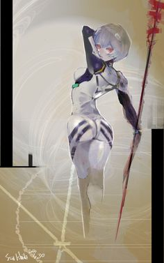 Rei Ayanami drawn by Ishida Sui, the mangaka of Tokyo Ghoul !!