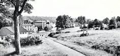 Looking down from The Common at the back of The Pantiles in the Tunbridge Wells, Old Pictures, 1950s, England, London, Board, Photos, Outdoor, Outdoors