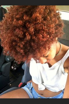 Beautiful copper coils | Natural Hair