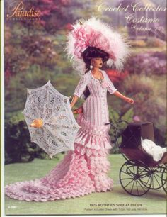 Barbie, Crochet Collector Costume Vol. 74 pattern http://knits4kids.com/collection-en/library/album-view?aid=2185