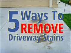 5 Ways To Remove Oil Stains From Your Home Driveway   Selling your home requires a lot of preparation. Here's one way to get rid of driveway oil stains.   #OilStains #HomeImprovement #Driveway
