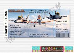 Disney aviones invitación por TheWonderlandCottage en Etsy