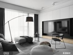 The decoration pictures of modern style are the design works of Xincheng Design. The design case is a . Living Room Tv, Living Room Modern, Interior Design Living Room, Home And Living, Living Room Designs, Muebles Living, Living Room Storage, Apartment Interior, Living Room Inspiration