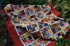 Scrap quilt, nine patches