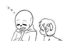 Ask Sans x Frisk(english or Spanish)