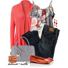"""""""Colour me Coral"""" by amo-iste on Polyvore"""