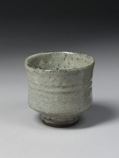 Tea bowl, stoneware, thrown, with mottled grey glaze, Mashiko, Japan (made) | Hamada, Shoji | V&A Search the Collections,