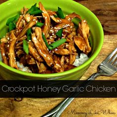 Crockpot Honey Garlic Chicken - Easy DIY Chinese Take-Out! So good! A must try! - mommylikewhoa.com