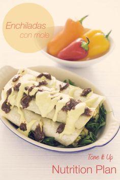 Tone It Up Nutrition Plan Enchiladas con Mole! - New Site Mole, Enchiladas, Gourmet Recipes, Healthy Recipes, Healthy Meals, Healthy Eating, Fitness Motivation, Nutrition Plans, Tone It Up