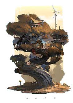 Tree house concept art: