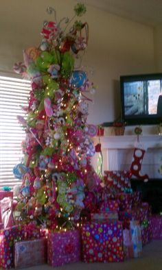 Our whimsical Christmas tree, last year!