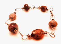 Earthy Brown Handmade Glass and Metal Bracelet by rachelbacon, $9.00
