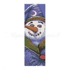 MAGICAL SNOWMAN Peyote Even CountBead by CajunsDesignPatternS