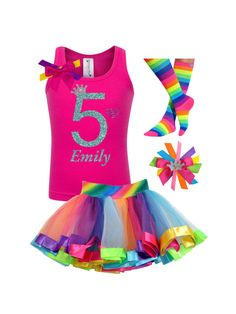Looking for Bubblegum Divas Big Girls Birthday Shirt 6 Rainbow Tutu Socks Hair Bow Outfit ? Check out our picks for the Bubblegum Divas Big Girls Birthday Shirt 6 Rainbow Tutu Socks Hair Bow Outfit from the popular stores - all in one. Girls 3rd Birthday, 1st Birthday Shirts, Pink Birthday, Rainbow Birthday, Birthday Hair, Birthday Ideas, Birthday Parties, Rainbow Socks, Rainbow Tutu