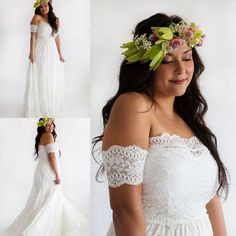 Gypsy Bohemian Lace Wedding Dresses with Arm Bands Hippie Bridal Gowns Embroidered Panelled Skirt Custom Made Plus Size Wedding Dress 2015 Online with $133.91/Piece on Alinabridal's Store | DHgate.com