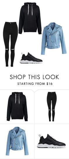"""""""Deuspi"""" by hyndmeriem ❤ liked on Polyvore featuring Boohoo, Topshop, Chicwish and NIKE"""