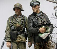 1/10 MG42 GUNNER & Joachim Peiper