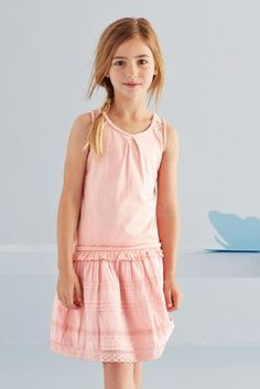 Buy Lace Trim Dress (3-16yrs) online today at Next: United States of America