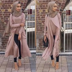 neutral-blush-hijab-outfit- Beautiful fall hijab trends http://www.justtrendygirls.com/beautiful-fall-hijab-trends/