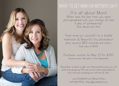 Special Mother's Day promotion celebrating my new glamour photography website opening & mother's day