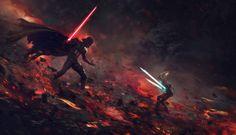 Darth Vader vs Ahsoka Tano by Guillem H. Pongiluppi