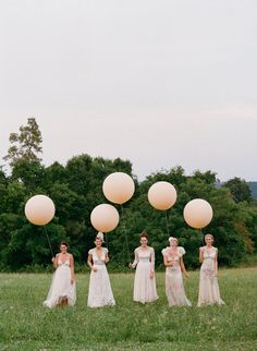 Photography by kissthegroom.com, Event Planning by bkohrdesigns.com via Style Me Pretty. {<3 the balloons.}