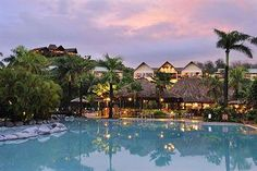 The Outrigger On The Lagoon in Fiji is a luxury 5 star rated resort situated in the heart of Fiji's Coral Coast. Perfect for a Fiji family vacation. Fiji Hotels, Beach Resorts, Hotels And Resorts, Best Hotels, Luxury Resorts, Fiji Coral Coast, Warwick Fiji, The Places Youll Go, Places To Go